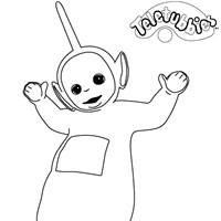 dipsy teletubbies coloring page