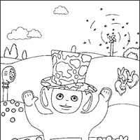 dipsy coloring page