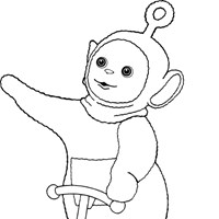 po on scooter coloring page