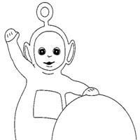 po with ball coloring page