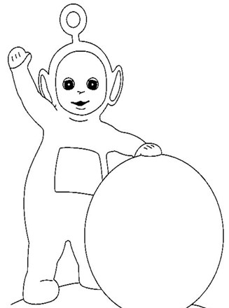 Kids-n-fun.com | 16 coloring pages of Teletubbies | 440x327