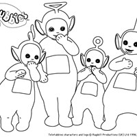 teletubbie group coloring page