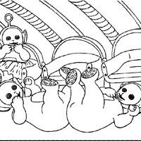 teletubbies fall down coloring page