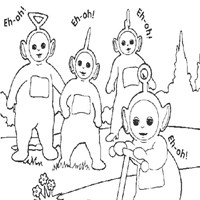 teletubbies say eh oh coloring page