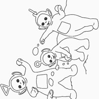 teletubbies snow coloring page