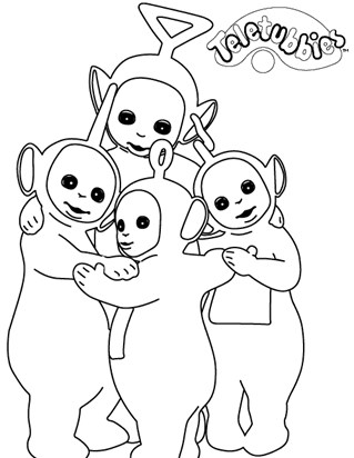 Teletubbies Coloring Pages All Kids Network