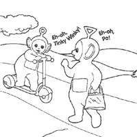 tinky winky and po coloring page