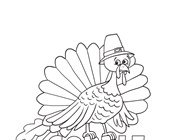 Turkey Gobble Coloring Page