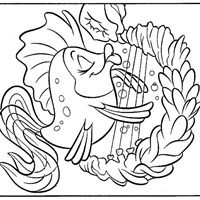 little mermaid 11 coloring page