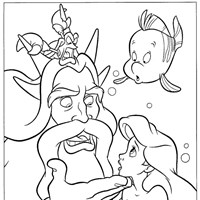 little mermaid 13 coloring page