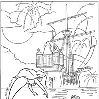little mermaid 3 coloring page