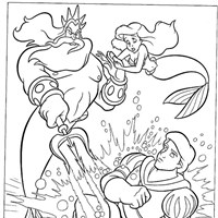little mermaid 5 coloring page