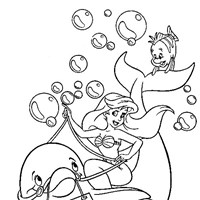 little mermaid ariel 3 coloring page