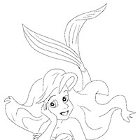little mermaid6a coloring page