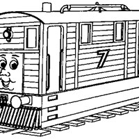 thomas the train 7 coloring page