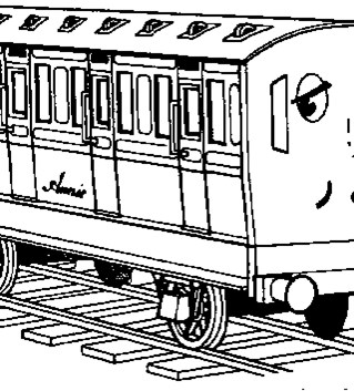 thomas the train annie coloring page