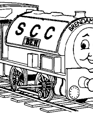 thomas the train ben coloring page