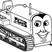 thomas the train bulldozer coloring page