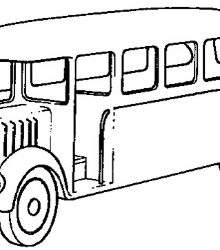 thomas the train bus coloring page