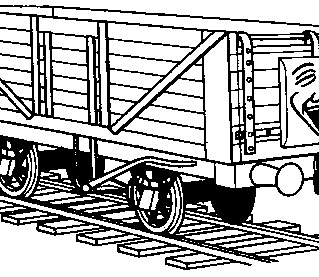 thomas the train car coloring page