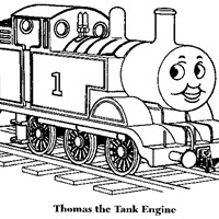 thomas the train coloring coloring page