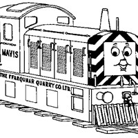 thomas the train mavis coloring page