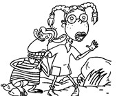 thornberrys alligator coloring page
