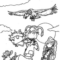 thornberrys cliff coloring page