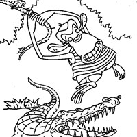 thornberrys crocodile coloring page