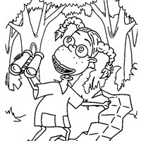 thornberrys exploring coloring page