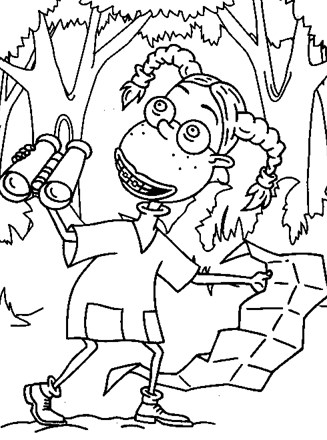 Funny Thornberrys Coloring Pages For Kids Printable Free The Wild Thornberrys Coloring And Drawing
