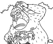 thornberrys gorilla coloring page