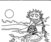 thornberrys hippo coloring page