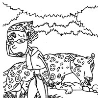 thornberrys leopard coloring page