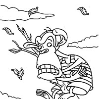 thornberrys monkey coloring page