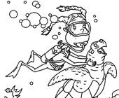 thornberrys swimming coloring page