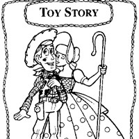 bo peep and woody coloring page