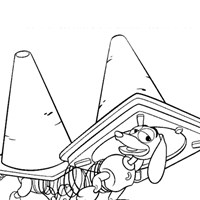 slink toy story coloring page