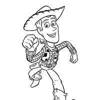 woody the cowboy coloring page
