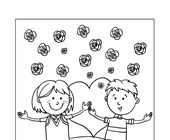 kids valentine's day coloring page