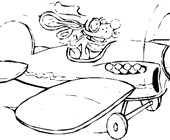 airplane mouse coloring page
