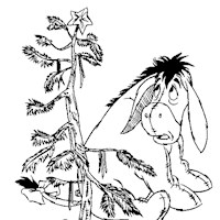 eeyore christmas tree coloring page