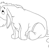 eeyore with tail coloring page