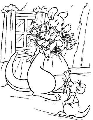 kanga and roo coloring page
