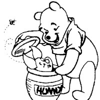 pooh and piglet honey coloring page