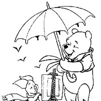 pooh blustery day coloring page