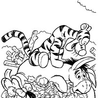 winnie the pooh coloring page tigger strong all kids network - Tigger Eeyore Coloring Pages