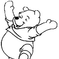 winne the pooh excited coloring page