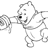 winnie the pooh honey pot coloring page