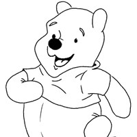 winnie the pooh marching coloring page